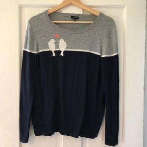 Talbots Love Birds Sweater